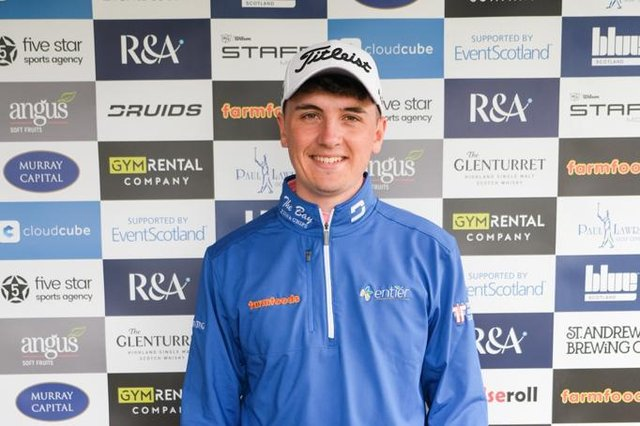 Sam Locke pictured after winning the Barassie Links Masters by three shots. Picture: Tartan Pro Tour