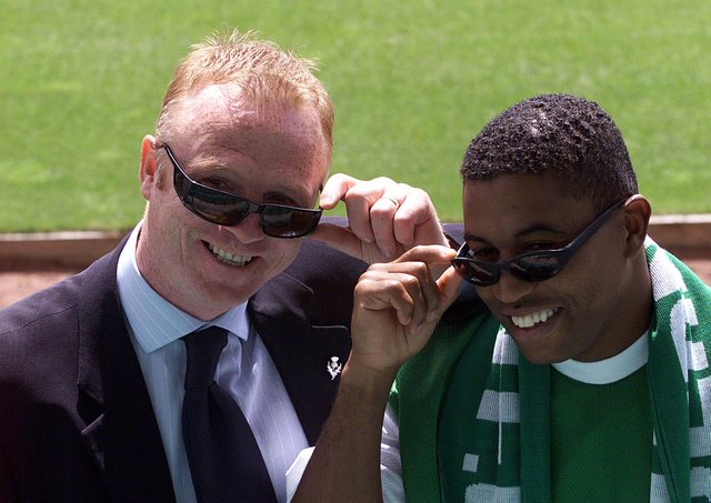 Hibs boss Alex McLeish was hoping for a bright future when he welcomed record signing Ulises de La Cruz to Easter Road on June 18, 2001. Photo by SNS Group