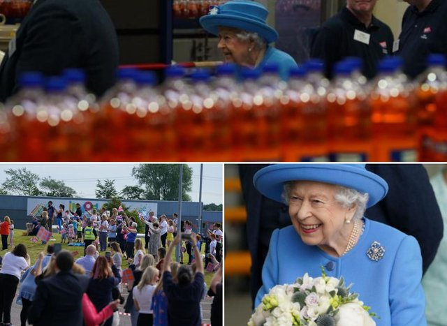 Irn-Bru: Seven pictures of The Queen's visit to Cumbernauld drinks factory with Duke of Cambridge on Scottish tour