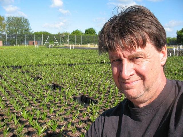Ornamental plant grower Martin Emmett