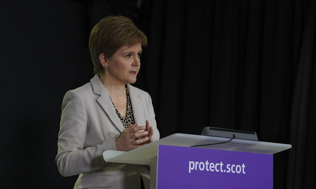 First Minister Nicola Sturgeon appears at a Covid briefing. Picture: Flickr/Scottish Government