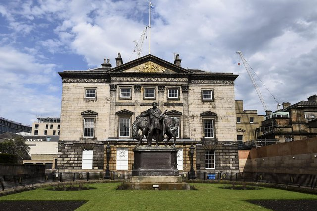 The statue of John Hope stands outside the historic headquarters of RBS in Edinburgh's New Town. Picture: Lisa Ferguson