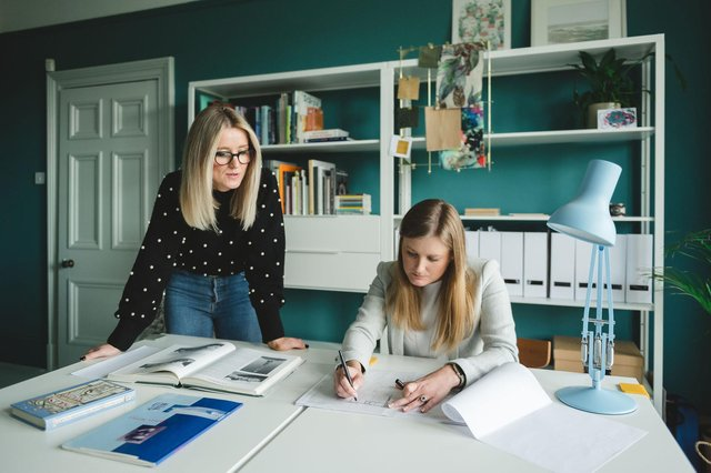 From left: Sarah Jane Storrie and Marianne Partyka have launched Studio SJM Architects. Picture: Mack Photo.