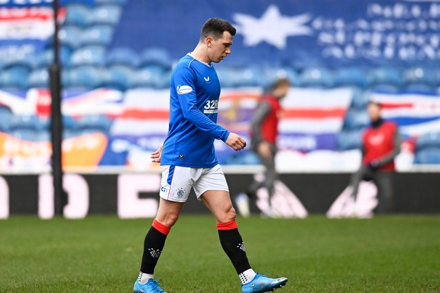 Rangers midfielder Ryan Jack will not be rushed back for Champions League qualifers in August  (Photo by Rob Casey / SNS Group)