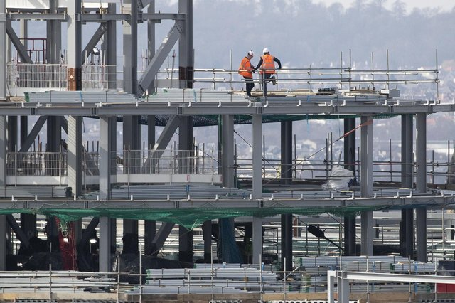 Civil engineering, commercial work and house building activity all continued strong recoveries during April. Picture: Jane Barlow/PA Wire
