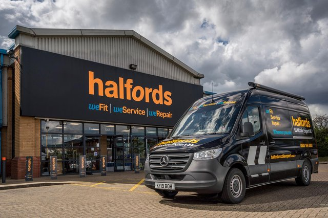 Halfords retail sales jumped 14.6 per cent on a like-for-like basis, helped by a 54 per cent surge for bikes, while its Autocentres car servicing and repair chain enjoyed a 9.7 per cent hike. Picture: Tim Andrew/Halfords