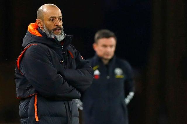 Wolverhampton Wanderers' Portuguese head coach Nuno Espirito Santo. (Photo by JASON CAIRNDUFF/POOL/AFP via Getty Images)