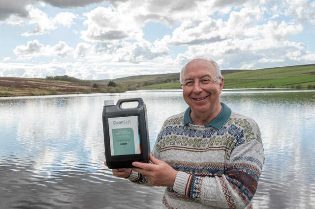 Nick Meakin, CEO of Aqualution Systems, pictured with the new product at The Watch Reservoir, Duns. Picture: Phil Wilkinson