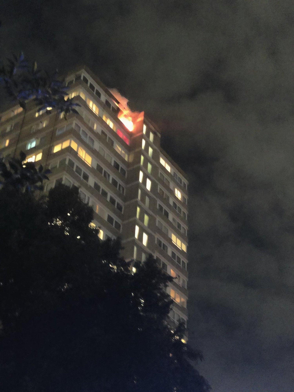 Kebakaran Battersea: Wanita dan anak dibawa ke rumah sakit saat petugas pemadam kebakaran menangani kebakaran blok menara di barat daya London