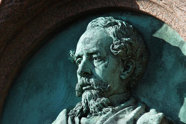 Freer cites Charles Dickens, with a bust of the author pictured. Picture: Gareth Fuller/PA Wire.