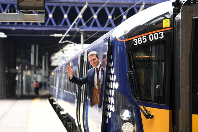 Abellio has funded £475 million of new trains including Class 385s which run on the Edinburgh-Glasgow main line. Picture: John Devlin
