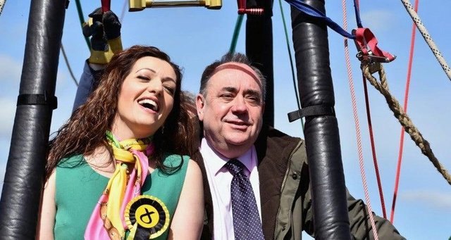 Tasmina Ahmed-Sheikh and Alex Salmond picture: Jeff J Mitchell/Getty Images