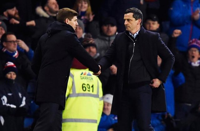 Rangers manager Steven Gerrard will go head to head with his Hibs counterpart Jack Ross for the third time this season when the teams meet at Easter Road on Wednesday night. (Photo by Rob Casey / SNS Group)