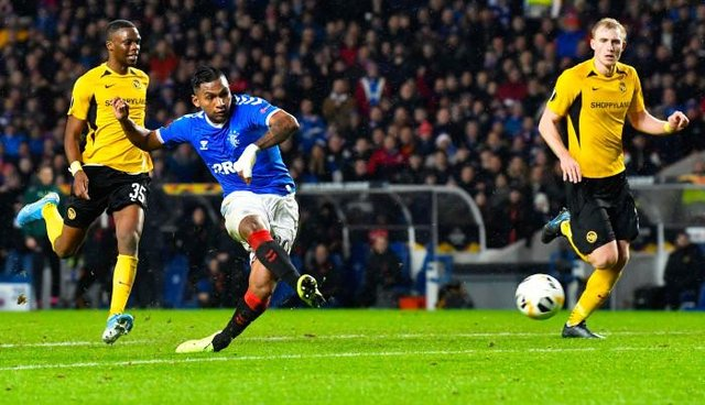 Alfredo Morelos scores in a Europa League match against Young Boys at Ibrox in December 2019. The Swiss club are among the potential opponents for Rangers in next season's Champions League qualifiers. (Photo by Rob Casey / SNS Group)