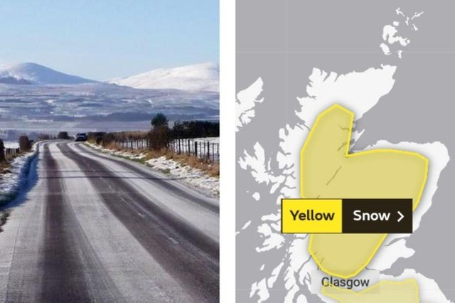 Weather: Met Office issue yellow warning for snow across parts of mainland Scotland