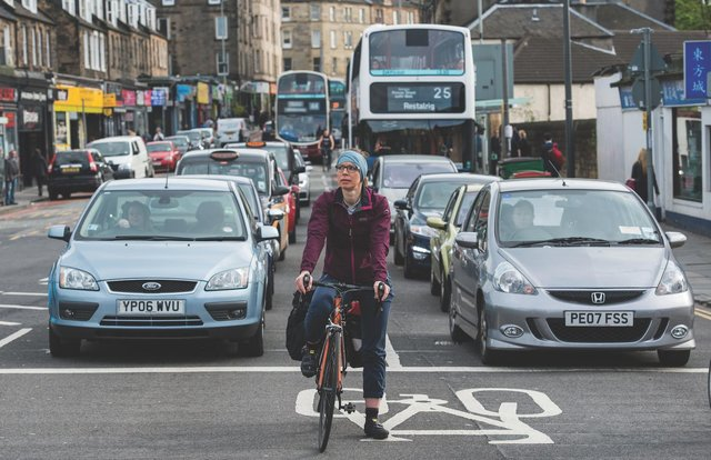 It is hoped commuters will prioritise cycling and walking over public transport and car use when the pandemic has abated. Picture: Ian Georgeson