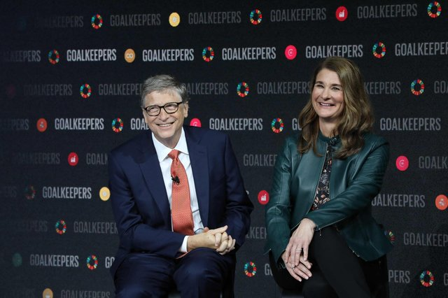 Melinda and Bill Gates have announced they are separating after 27 year-long marriage (Photo by LUDOVIC MARIN/AFP via Getty Images).