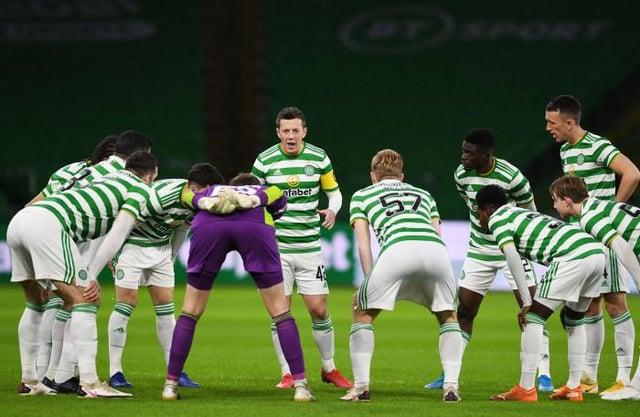 Celtic team line-up