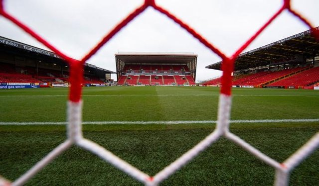 Pittodrie will have more than five and a half thousand for the visit of BK Hacken. (Photo by Craig Foy / SNS Group)