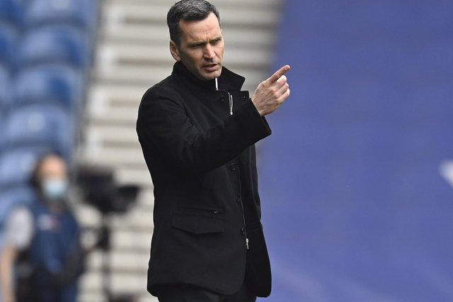 Aberdeen manager Stephen Glass during the Scottish Premiership match  between Rangers and Aberdeen  at Ibrox Stadium, on May 15, 2021, in Glasgow, Scotland. (Photo by Rob Casey / SNS Group)