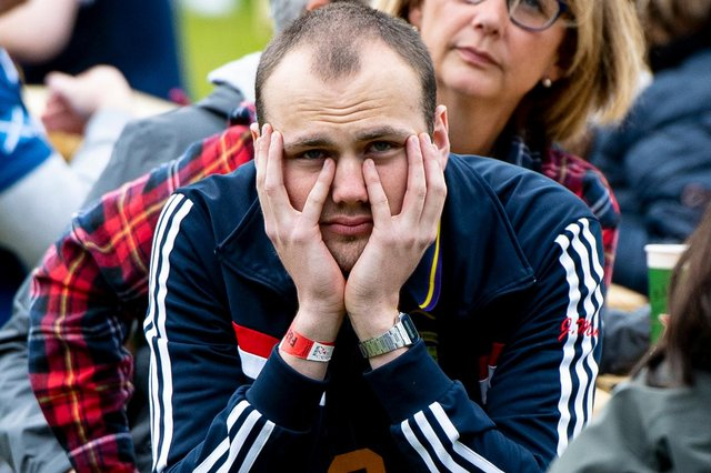The face of every Scotland fan watching the 90 minutes at Hampden. Picture: SNS