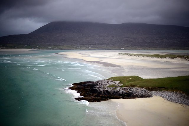 A view of Luskintyre Beach on the island of Harris.