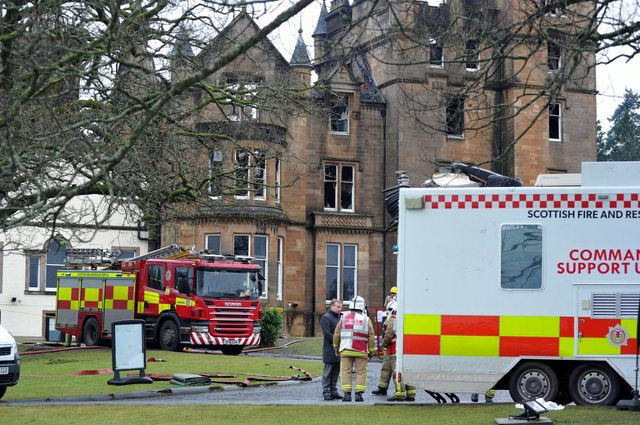 Cameron House Hotel on the banks of Loch Lomond, where a fire ripped through the building in December, 2017.