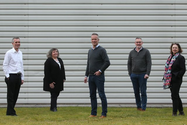 Kevin Smithson (operations director), Linda Brown (master biscuitier), Mark Chance (sales director), Simon Stoten (financial director), Lisa Mullen (technical manager). Picture: Stewart Attwood