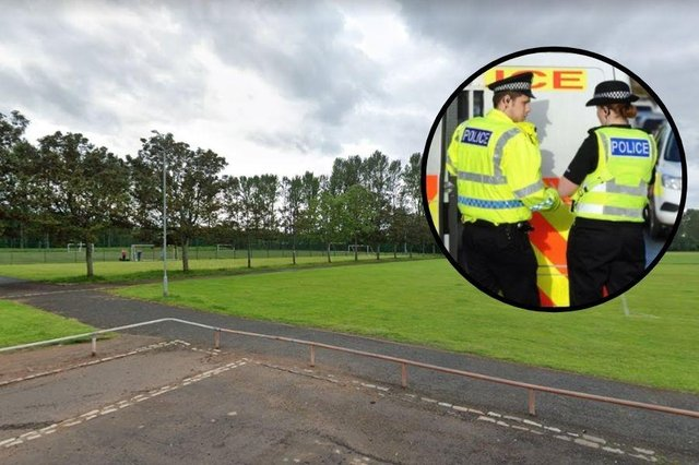 On Saturday, February, 27, three men were attacked and stabbed in Greenfield Park football pitches on Duror Street, Glasgow.