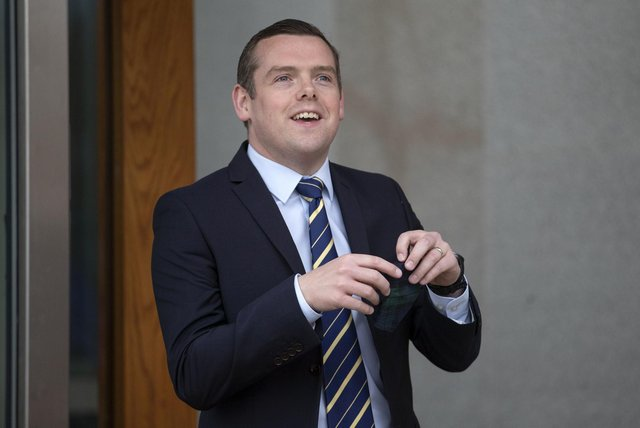 Scottish Conservative's party leader Douglas Ross arrives for registration at the Scottish Parliament in Holyrood. Picture: Jane Barlow/PA Wire