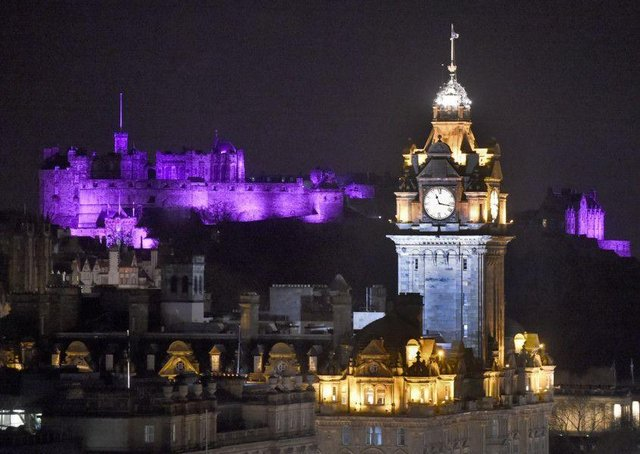 Edinburgh Castle is among the many landmarks across Scotland will be lit up purple to help raise awareness of epilepsy for Purple Day on Friday ,26 March.