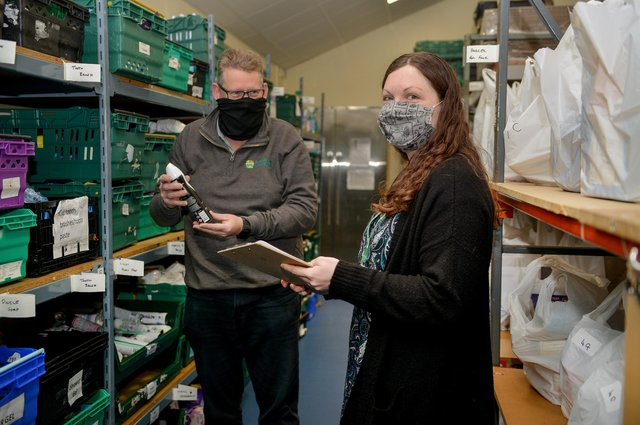 The stark rise in food-bank use shows how many people are struggling to put food on the table, so they are unlikely to be worrying about pensions, insurance or social care costs in later life (Picture: Rachel Atkins)