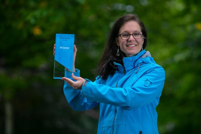 Genevieve Patenaude, winner of the flagship Converge Challenge Award. Picture: Lloyd Smith.