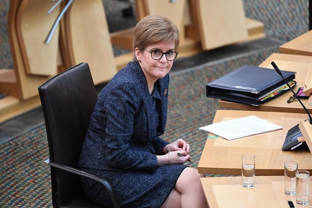 Nicola Sturgeon said earlier this year that it distressed her that young people were leaving the SNP because they felt it was not 'a safe, tolerant or welcoming place for trans people' (Picture: Andy Buchanan-WPA pool/Getty Images)