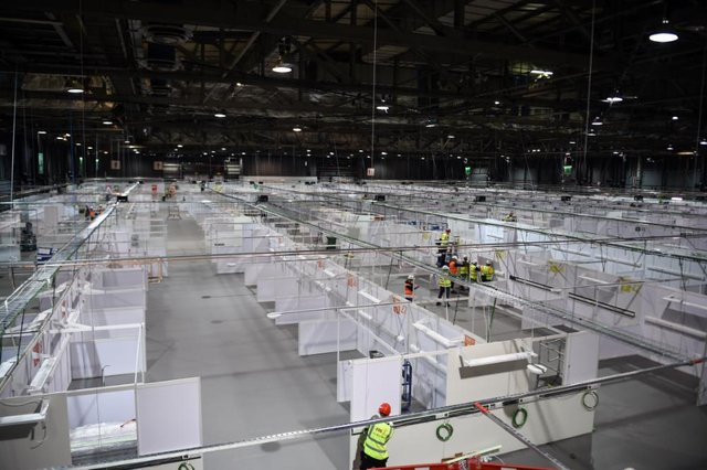One of the sites is the NHS Louisa Jordan Hospital in Glasgow's SEC exhibition centre (Getty Images)