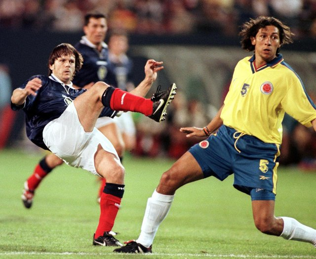 Winning one of his 22 caps against Colombia in 1998