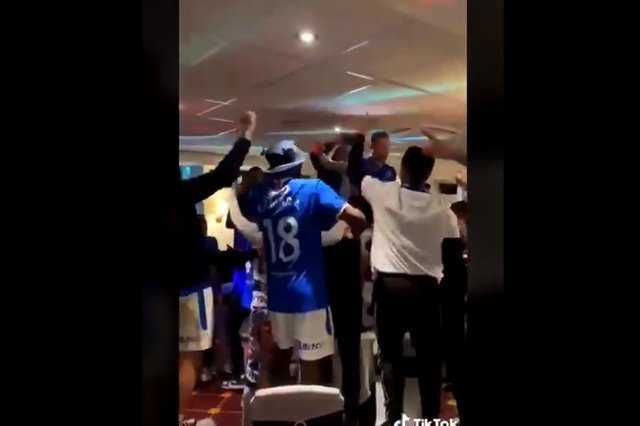 """Police are investigating claims that Rangers F.C. players used """"sectarian language"""" during their title celebrations."""