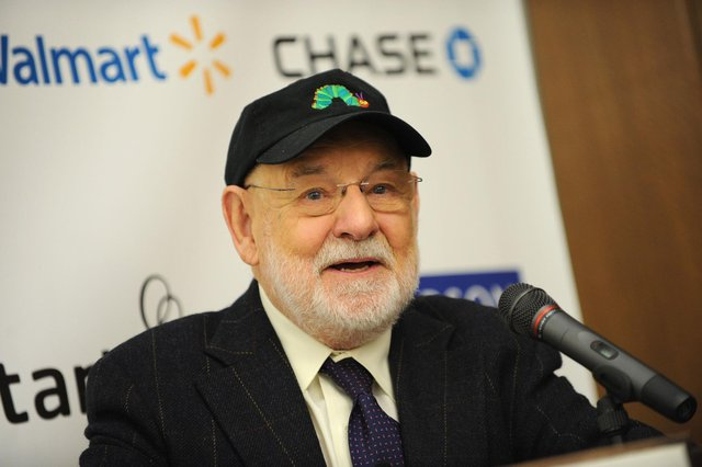 Author Eric Carle -  complete with caterpillar cap - at an event in New York in 2009 (Picture: Getty Images)
