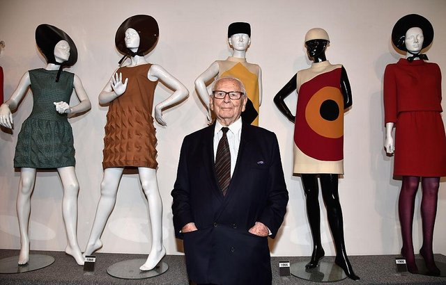The designer at the Musee Pierre Cardin in Paris in 2014