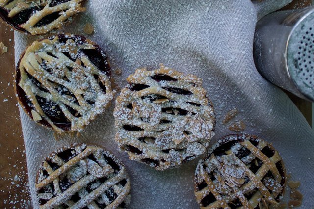 David Hetherington's cherry and almond tarts