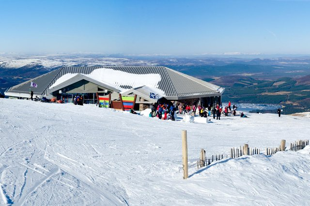 The Top Station and Ptarmigan restaurant at Cairngorm Mountain snowsports resort. Picture: Tim Winterburn/HIE