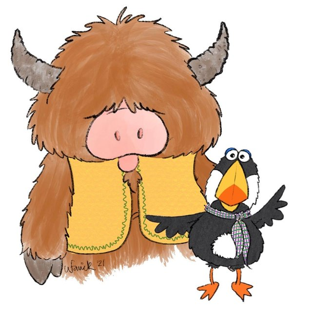 Mooban and Moo are best friends in the new children's programme set to start filming in September. (Credit: Laura Sturrock/Electrify)