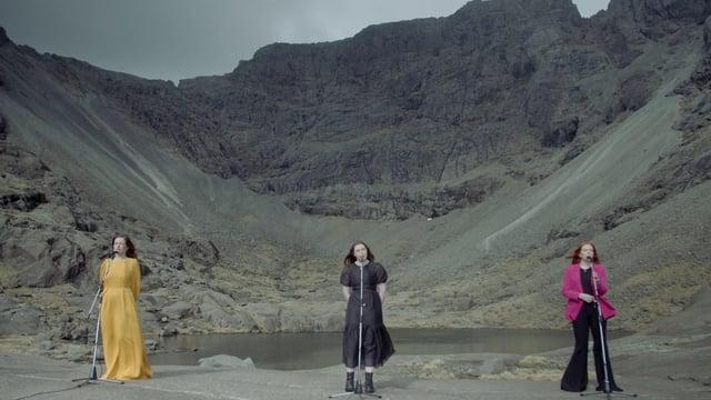 Gaelic trio Sian filmed at Coire Lagan on the Isle of Skye.