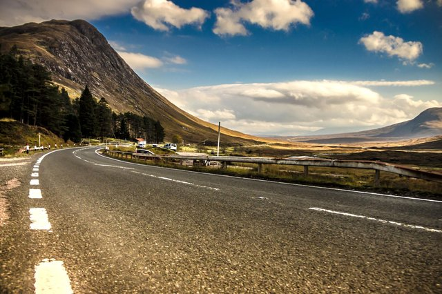 The A82 through Glencoe, a hugely popular tourist route where stopping your car is now illegal. PIC: Getty.