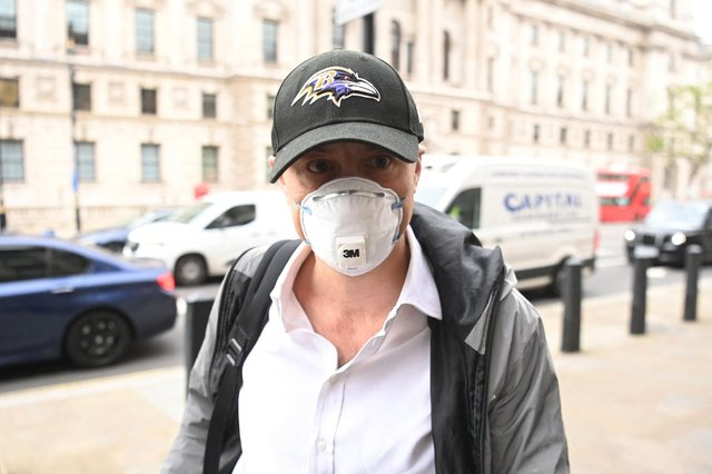 Former No.10 special adviser Dominic Cummings arrives at Portcullis House in London before his grilling by MPs yesterday (Picture: Getty Images)