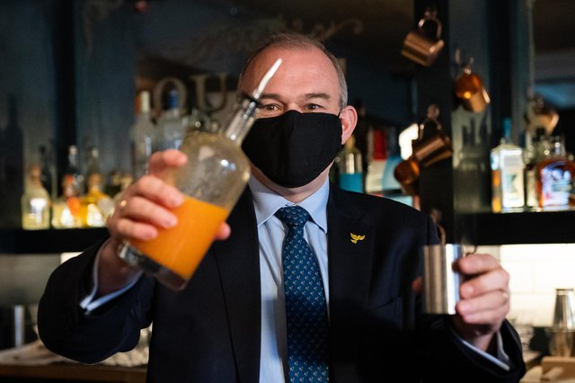 Sir Ed Davey will be toasting a historic win today as the Lib Dems won in Chesham and Amersham.