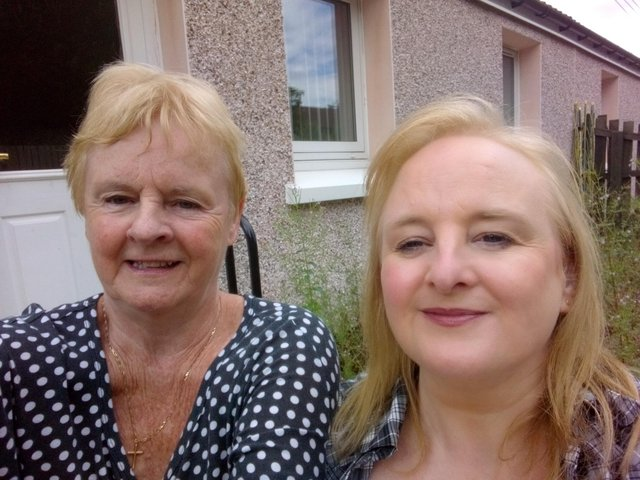 Wilma Ord and her daughter Kirsteen, of Livingston, are calling for a financial compensation scheme for vicitms of the Primodos drug scandal. PIC : Contributed.