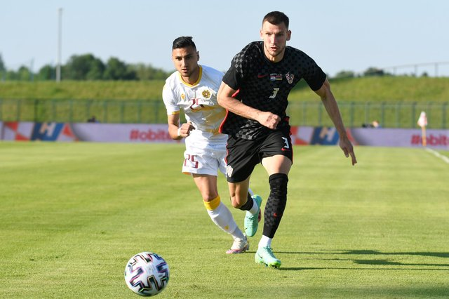 Rangers defender Borna Barisic, pictured in action in a friendly against Armenia, has established himself as Croatia's first choice left-back. (Photo by Jurij Kodrun/Getty Images)