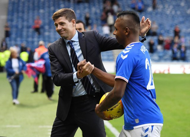 Alfredo Morelos is reported to be interesting Lazio. Picture: SNS