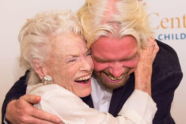 Richard has paid tribute to his 'fearless' mother, Eve Branson (Picture: Virgin)